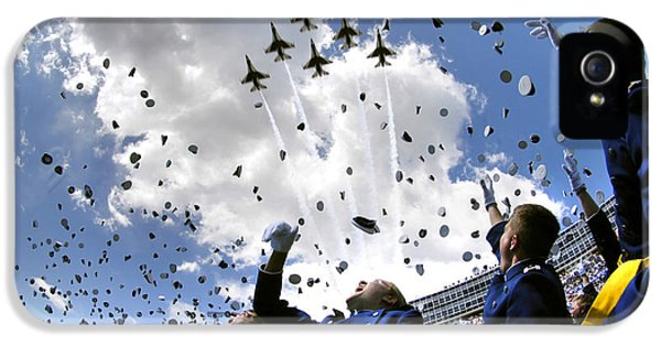 U.s. Air Force Academy Graduates Throw IPhone 5s Case by Stocktrek Images