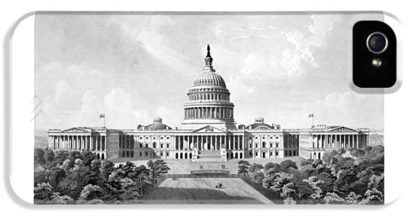 Us Capitol Building - Washington Dc IPhone 5s Case by War Is Hell Store