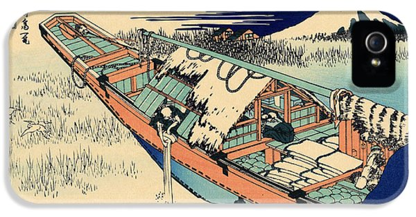 Ushibori In The Hitachi Province IPhone 5s Case by Hokusai