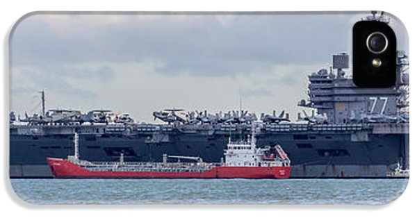 George Bush iPhone 5s Case - Uss George H.w Bush. by Angela Aird