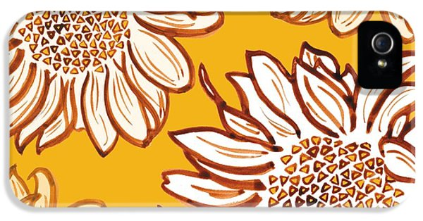 Sunflower iPhone 5s Case - Very Vincent by Sarah Hough