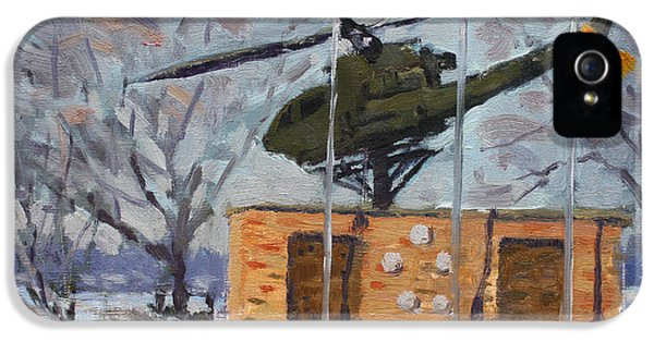 Helicopter iPhone 5s Case - Veterans Memorial Park In Tonawanda by Ylli Haruni