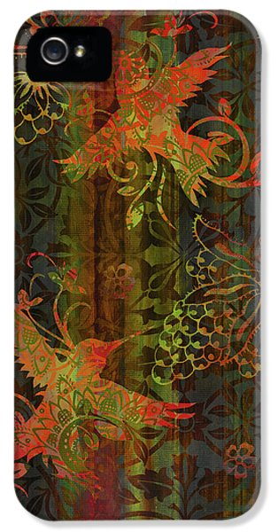 Humming Bird iPhone 5s Case - Victorian Humming Bird 3 by JQ Licensing