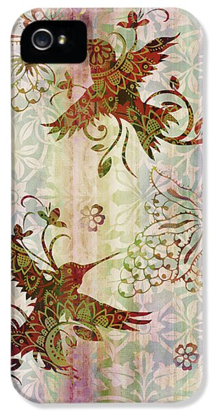 Humming Bird iPhone 5s Case - Victorian Humming Bird Pink by JQ Licensing