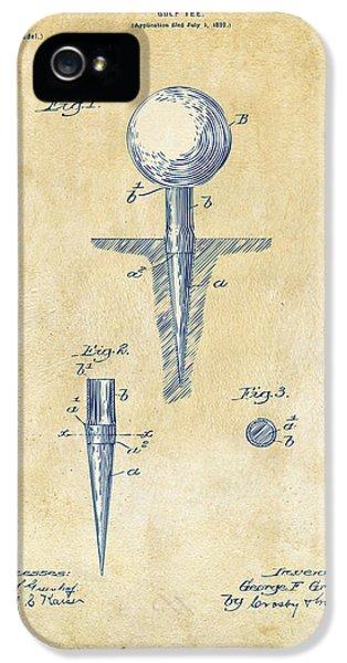 Vintage 1899 Golf Tee Patent Artwork IPhone 5s Case