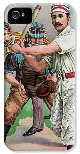 Softball iPhone 5s Case - Vintage Baseball Card by American School