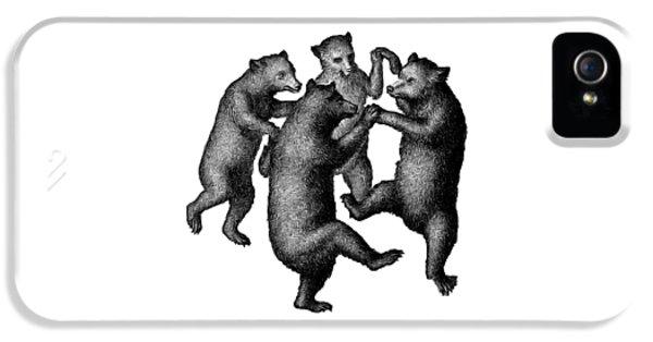 Vintage Dancing Bears IPhone 5s Case by Edward Fielding