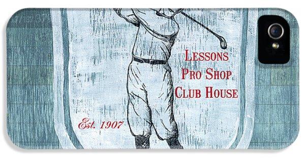 Vintage Golf Blue 1 IPhone 5s Case