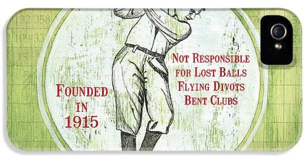 Vintage Golf Green 2 IPhone 5s Case by Debbie DeWitt