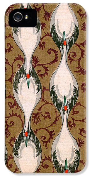 Vintage Japanese Illustration Of Cranes Flying IPhone 5s Case