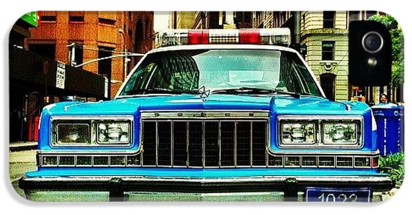 Summer iPhone 5s Case - Vintage Nypd. #car #nypd #nyc by Luke Kingma