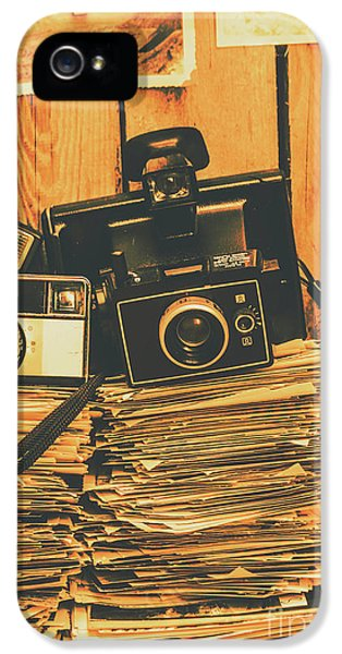 Nostalgia iPhone 5s Case - Vintage Photography Stack by Jorgo Photography - Wall Art Gallery
