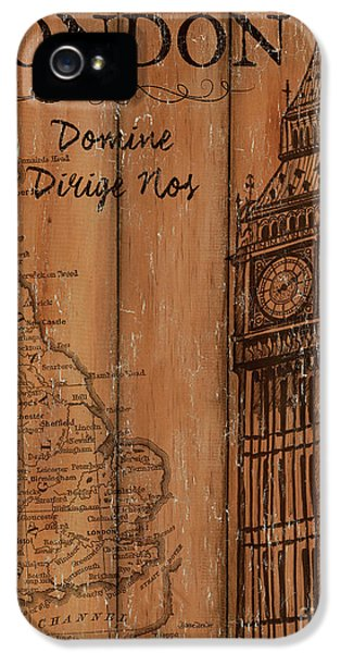 Clock iPhone 5s Case - Vintage Travel London by Debbie DeWitt