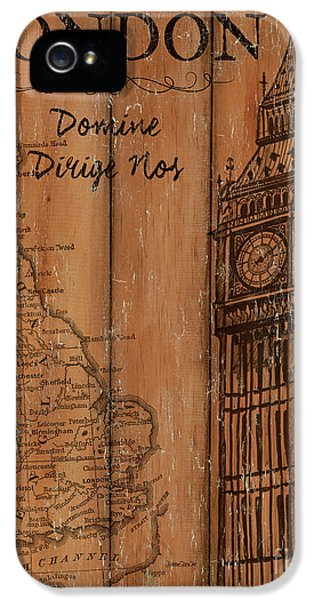 Vintage Travel London IPhone 5s Case by Debbie DeWitt