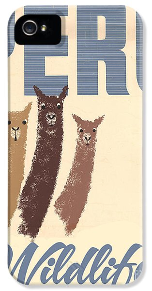Vintage Wild Life Travel Llamas IPhone 5s Case by Mindy Sommers