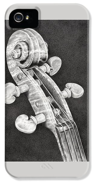 Violin Scroll IPhone 5s Case by Remrov