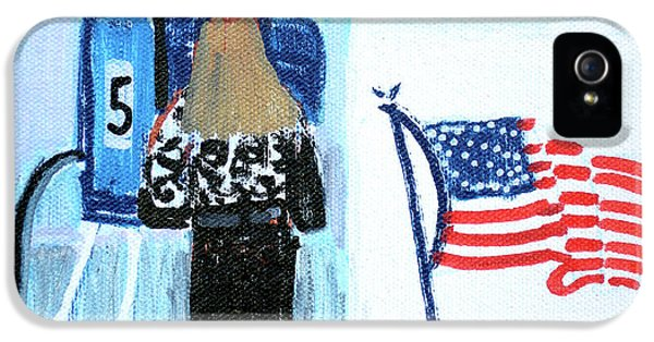 Voting Booth 2008 IPhone 5s Case by Candace Lovely