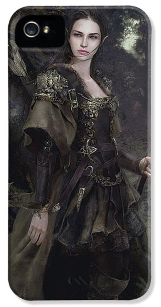 Elf iPhone 5s Case - Waldelfe by Eve Ventrue