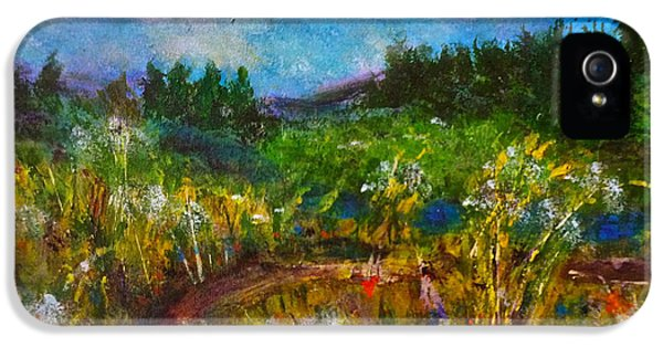 IPhone 5s Case featuring the painting Walk With Me by Claire Bull