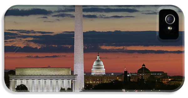 Washington Dc Landmarks At Sunrise I IPhone 5s Case