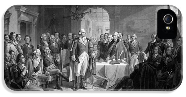 Washington Meeting His Generals IPhone 5s Case by War Is Hell Store