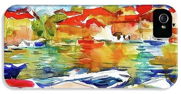 iPhone 5s Case - Watercolor Boats By Svetlana Novikova ( by Svetlana Novikova