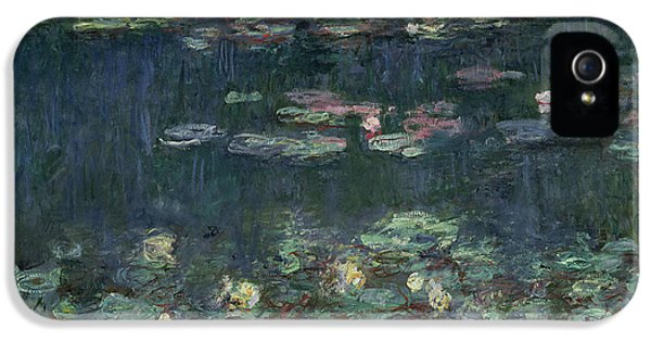 Waterlilies Green Reflections IPhone 5s Case by Claude Monet