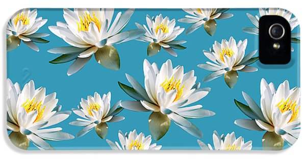 IPhone 5s Case featuring the mixed media Waterlily Pattern by Christina Rollo