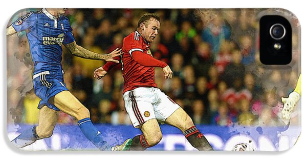 Wayne Rooney Of Manchester United Scores IPhone 5s Case by Don Kuing
