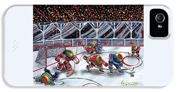 Hockey iPhone 5s Case - We Olive Hockey by Michael Godard
