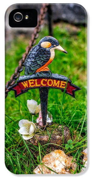 Kingfisher iPhone 5s Case - Welcome Sign by Adrian Evans