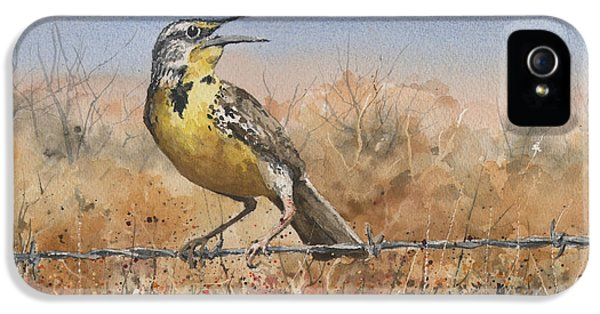 Meadowlark iPhone 5s Case - Western Meadowlark by Sam Sidders
