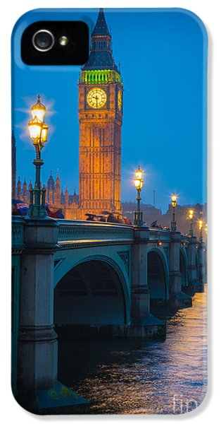 Westminster Bridge At Night IPhone 5s Case by Inge Johnsson