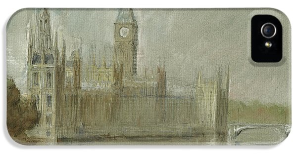 London iPhone 5s Case - Westminster Palace And Big Ben London by Juan Bosco