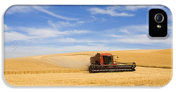 Rural Scenes iPhone 5s Case - Wheat Harvest by Mike  Dawson