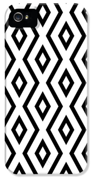 Pattern iPhone 5s Case - White And Black Pattern by Christina Rollo
