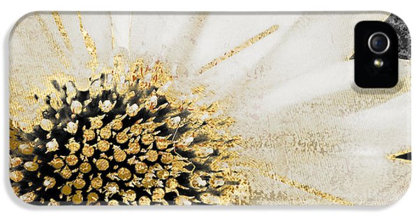 White And Gold Daisy IPhone 5s Case by Mindy Sommers