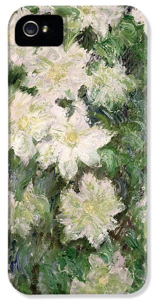 White Clematis IPhone 5s Case by Claude Monet