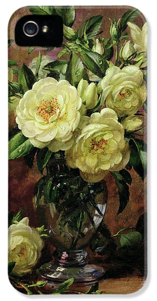 Rose iPhone 5s Case - White Roses - A Gift From The Heart by Albert Williams