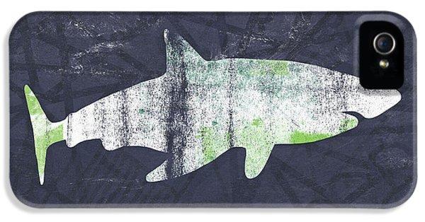 White Shark- Art By Linda Woods IPhone 5s Case