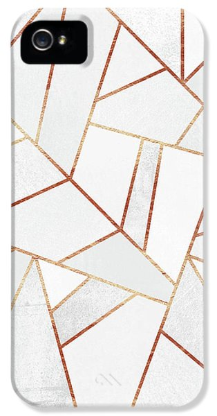 White Stone And Copper Lines IPhone 5s Case