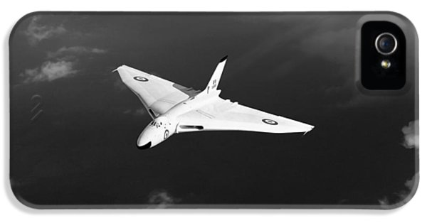 IPhone 5s Case featuring the digital art White Vulcan B1 At Altitude Black And White Version by Gary Eason