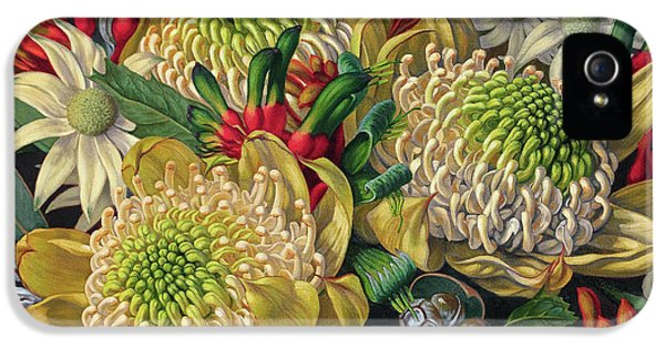 White Waratahs Flannel Flowers And Kangaroo Paws IPhone 5s Case
