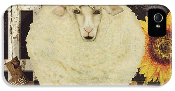 Sheep iPhone 5s Case - White Wool Farms by Mindy Sommers