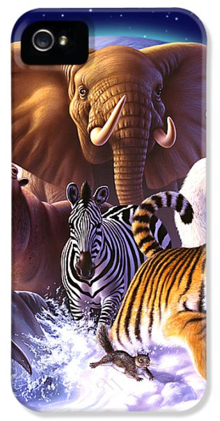 Elephant iPhone 5s Case - Wild World by Jerry LoFaro