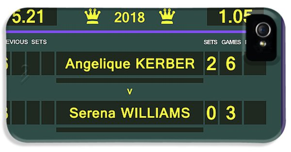 Wimbledon Scoreboard - Customizable - 2017 Muguruza IPhone 5s Case