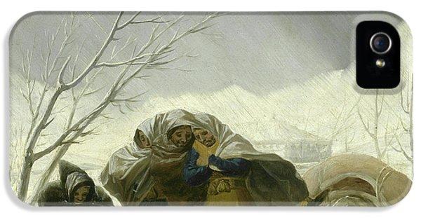 Winter Scene IPhone 5s Case by Goya