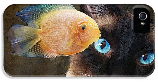 Wishful Thinking 2 - Siamese Cat Art - Sharon Cummings IPhone 5s Case by Sharon Cummings