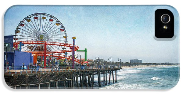Santa Monica iPhone 5s Case - With A Smile On My Face by Laurie Search