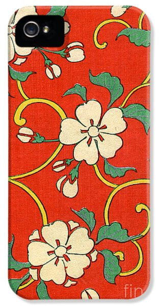 Woodblock Print Of Apple Blossoms IPhone 5s Case by Japanese School
